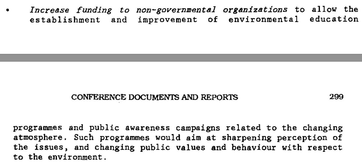 Financier NGO's als democratisch vernis: de opdracht die Ed Nijpels meekreeg in Toronto. Vervolgens ging hij bij WNF werken als klimaat-agitator