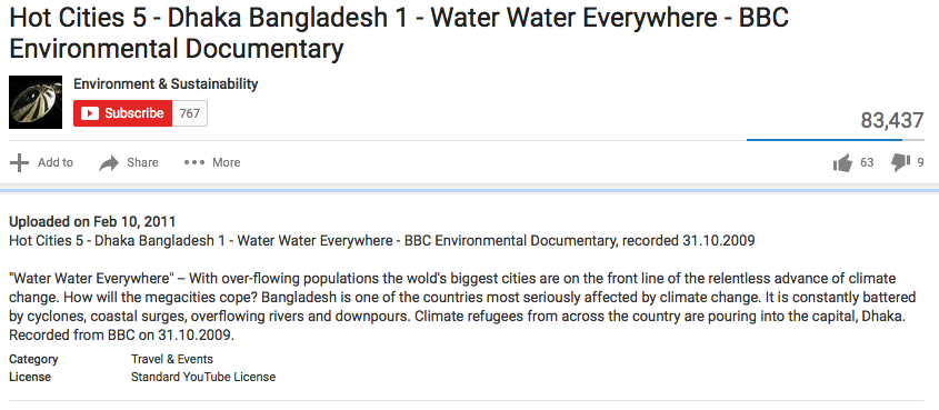 Klimaatpropaganda op de BBC in 2009, gemaakt door Rockhopper TV. Zij kregen 3,16 miljoen dollar van de Rockefeller Foundation voor het maken van die propaganda. Die foundation is het legaat van Standard Oil, nu Exxon Mobil en Esso (S.O)