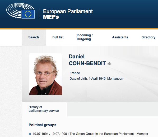 De founding father van Europese redeloosheid sinds mei 1968, moet nu onderhand miljonair zijn met publiek geld