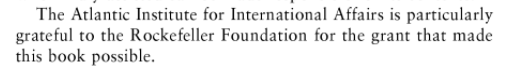 Altijd weer die Rockefellers, sponsor van VN-klimaatagenda, van milieuclubs EN van militaire denktanks
