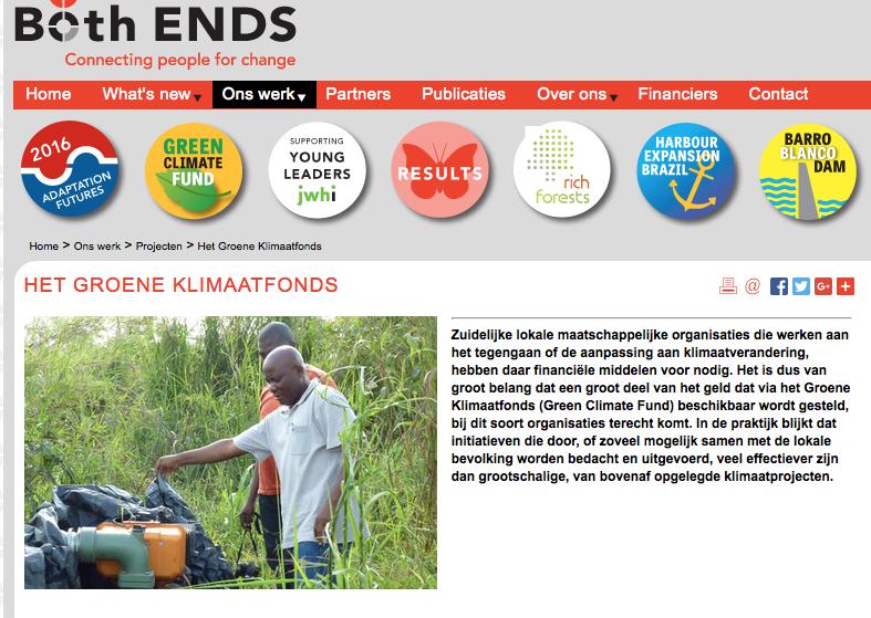 Hier is het die klimaatgenderrechtvaardigheid-zoekers om te doen. Geld. Tot nu toe was alleen Nederland zo gek om bij te dragen aan dit klimaatfonds. Maar sinds Parijs kon de pot wel eens verder opvullen, dankzij druk van de Wereldbank