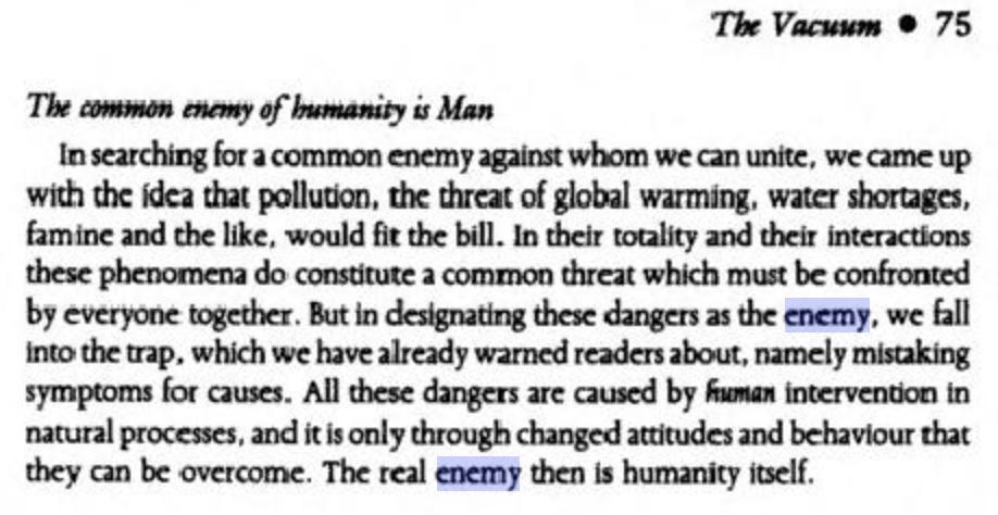 Als je 'de mensheid' als vijand ziet, wil je dan ook oorlog daartegen voeren?