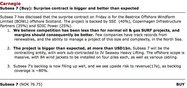 Investeerders als Carnegie lopen al te handenwrijven met olie-subcontractor Subsea: risicovrij beleggen dankzij overheidsusbsidies