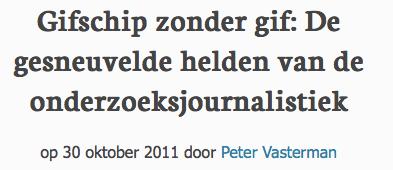 Jeroen Trommelen kreeg Daniel Pearl Award voor aantoonbare feitelijk onjuiste leugenpropaganda