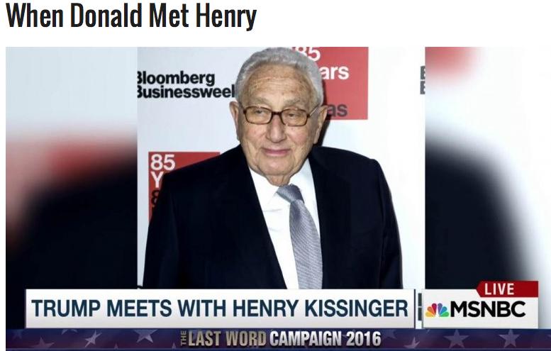 Henry Kissinger is er ook