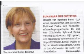 De zus van CDA-leider Buma werkt ook bij WNF als professioneel leugenares (communicatie) die mensen het MSC-label opdringt. Als loon voor bewezen corporate diensten mag ze nu naar een tropisch oord
