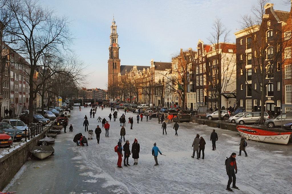 Amsterdam-schaatsen-ijs