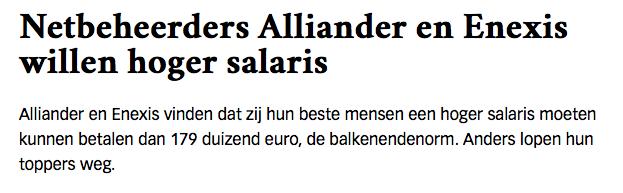 De energierekening gaat enkel omhoog. De Bestuursvoorzitter van Alliander ging afgelopen jaar al met 444 duizend euro naar huis