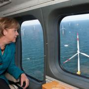 merkel helikopter windmolens