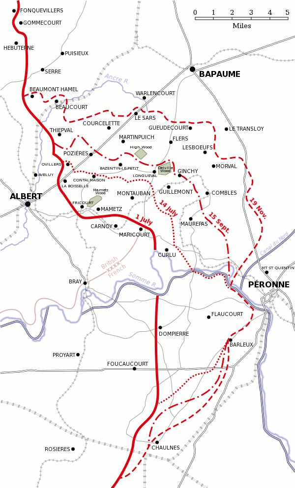 Kaart slagveld, tegelijk handig bij het rondrijden