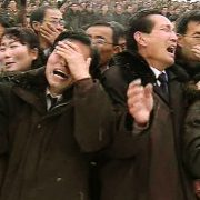 Crying people at funeral Kim Jong II