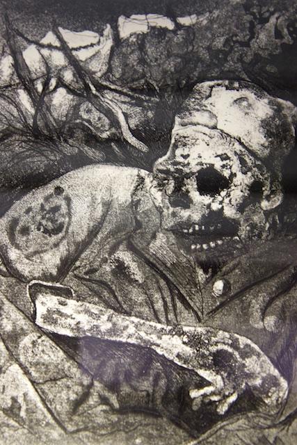 Tekeningen van Otto Dix in het Historial