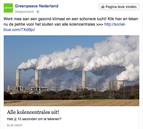 LNG-gasboer Shell wilde graag van concurrent kolenenergie af, dus lobbiet Greenpeace nu voor hun belang