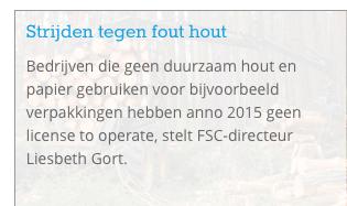 De zelfde club die miljarden subsidies geeft aan het stoken van bos, die beleert ons tegelijk over 'fout hout' omdat ze een handeltje verpatsen in FSC
