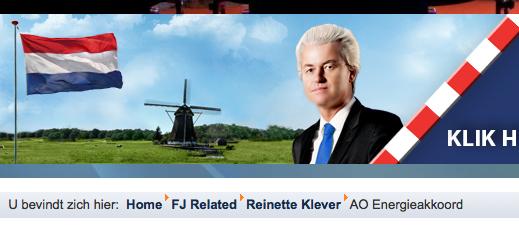 Dit oogt toch even potsierlijk als Al Gore, de Grote Geertcultus bij een windmolen en Nederlandse vlag. Geert, waar is de zelfrelativering?