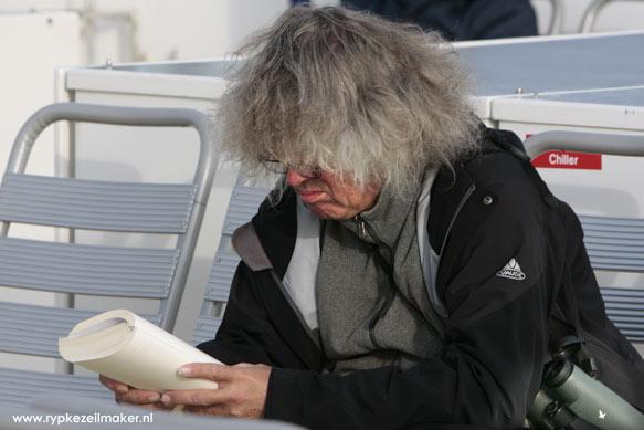 Lenze Hofstee in 2009 op de Boot vanaf Vlieland