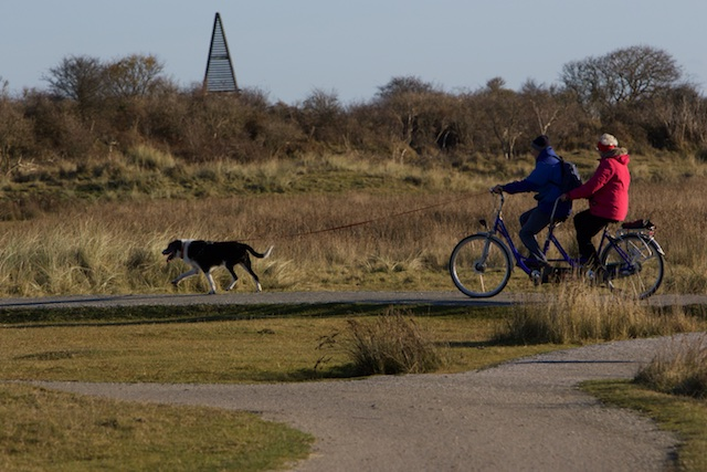 ..of zo een beetje voor lul fietsen, vastgebonden aan je hond
