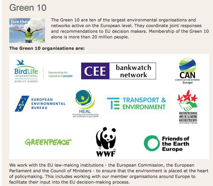 Brussel betaalt deze coalitie jaarlijks tenminste 9 miljoen euro subsidie om voor windturbines en bioenergie te lobbyen etc