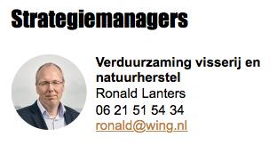 Oud ambtenaar LNV/nu EZ kreeg vleugels van subsidie, en maakt 'natuurherstel' synoniem met 'wegpesten visserij'