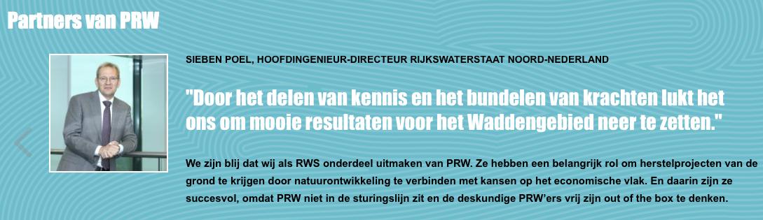 Sieben Poel's Rijkswaterstaat zit bij PRW. Die zit dus WEL in de besturingslijn, net als de ambtenaren van Ministerie EZ en I&M