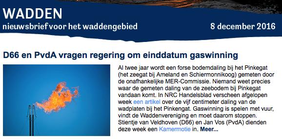 De lobby/fondsenwerving werkt, terwijl Waddengas de rekeningen bij Berkhuysen BV betaalt