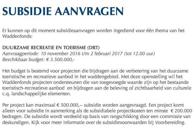 Met wat geluk krijgen ze hier ook nog eens subsidie voor uit het Waddengas-fonds