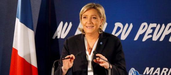 Nieuwjaarstoespraak Marine Le Pen (foto Reuters)