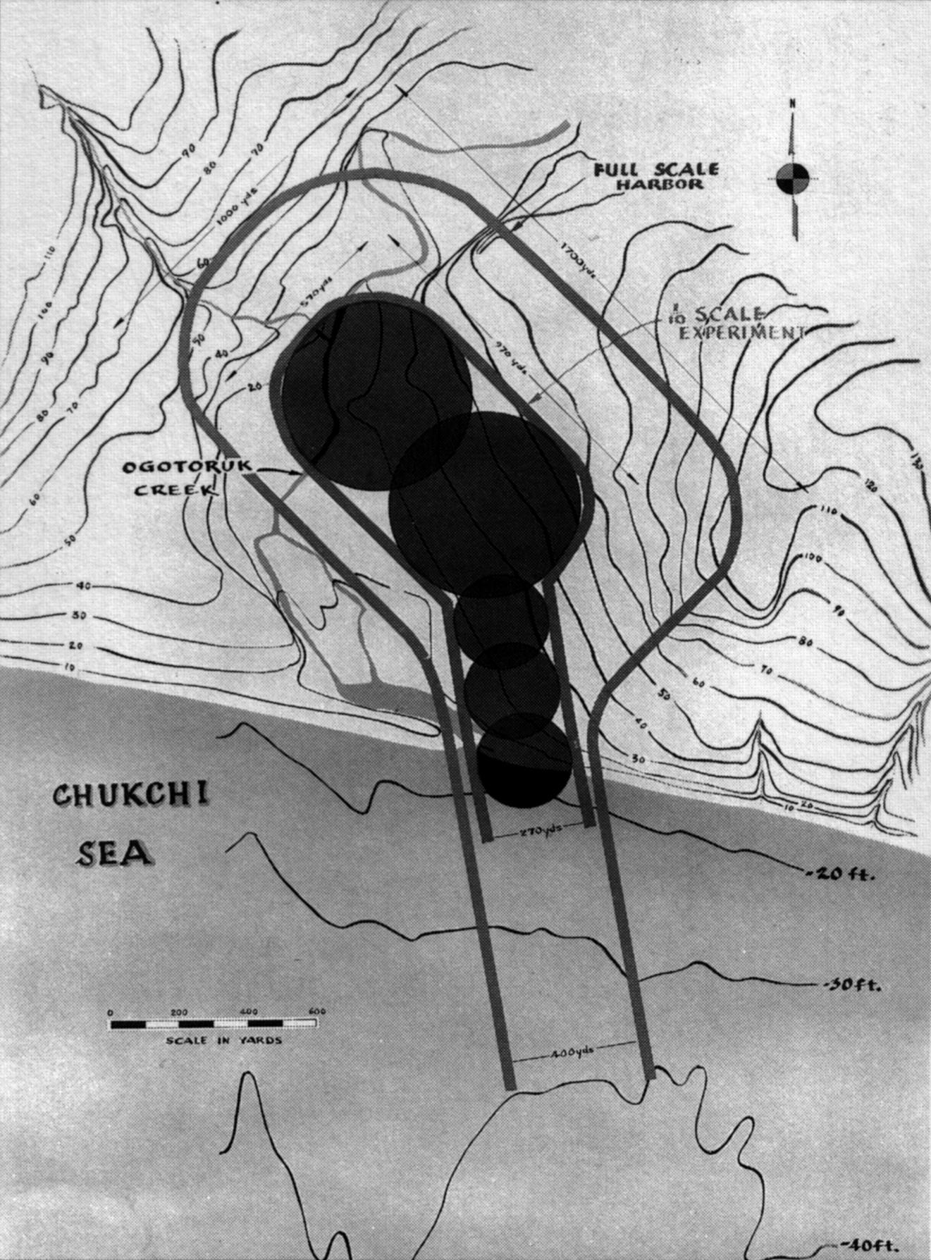 Project Chariot (1958) een baai maken met 5 atoombommen in Alaska