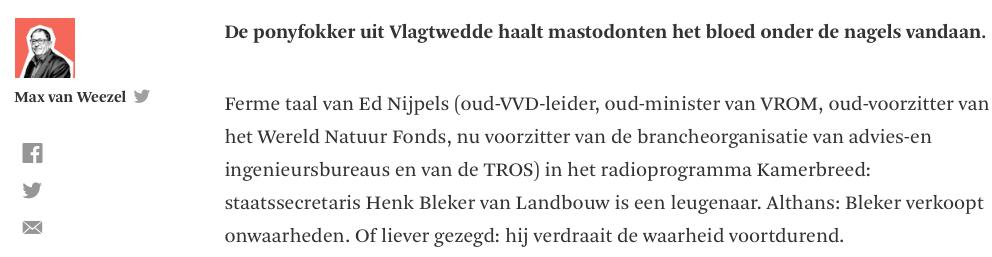 Het gebabbel der PvdA-gezinde grachtengordeldieren is maatgevend voor 'kwaliteits'-journalisten