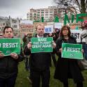Ebell protest bij bezoek Brussel
