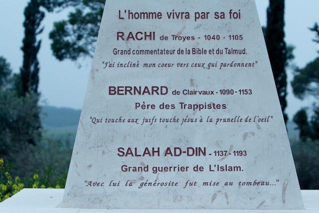 Wederzijds respect is mogelijk...(Vallei van Ayalon Israel bij Benedictijner klooster)