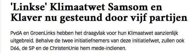 Als de PVV tegenstemt is die klimaatwet mooi weg. Baseer je oordeel aub niet op mediahysterie zoals van de communistische Volkskrant