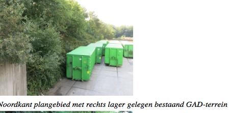inefficient gebruik GAD-terrein midden in natuurgebied