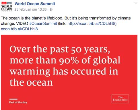Het gebruikelijke geOH om de suggestie van een unieke noodtoestand te wekken...De oceanen nemen warmte op, gelukkig maar. Anders zou de aarde onleefbaar zijn