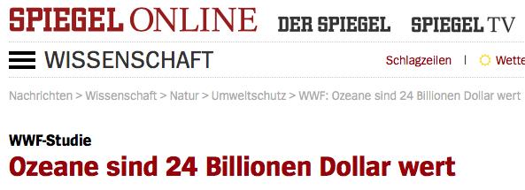 Media-massage door WWF om link te leggen tussen 'geld' en 'ecologie'