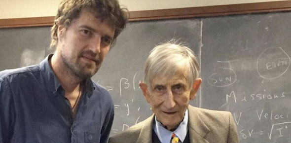 Marijn Poels op bezoek bij Freeman Dyson