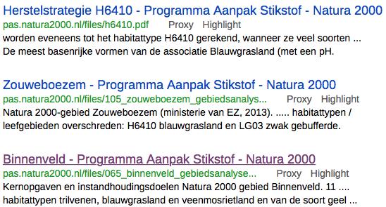 Kostbare negativiteit: Natura 2000