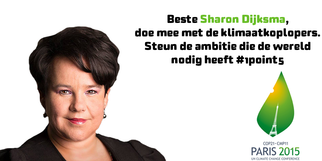 Sharon Dijksma klimaatkoplopers