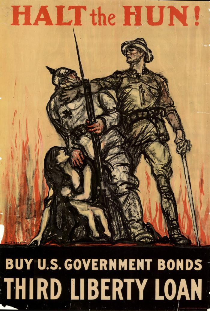 'onschuldige vrouwen en kinderen'.....Het werkte in 1917 ook al