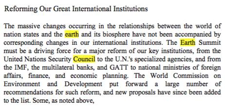 1990: Pieter Winsemius legt voor David Rockefeller uit wat het doel van de Earth Summit in Rio moet zijn in 1992